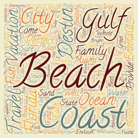 fl: Destin Fl Jewel Of The Gulf Coast text background wordcloud concept