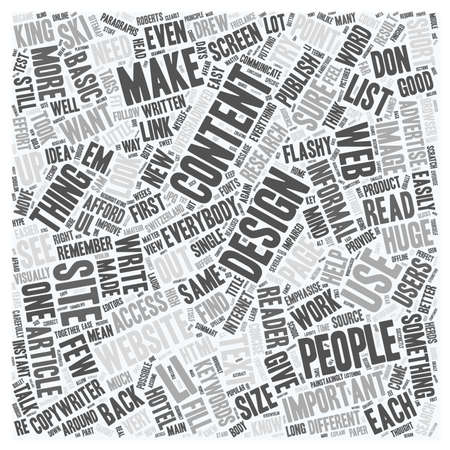 get across: Design for Your Content text background wordcloud concept