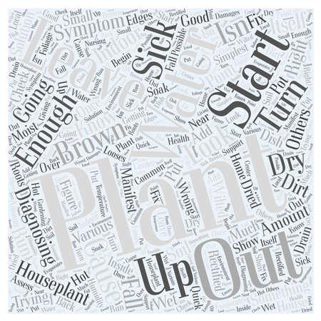 Diagnosing your Sick Houseplant Word Cloud Concept Illustration