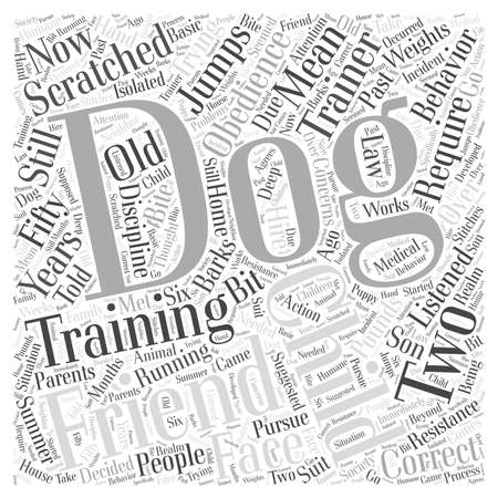 dog obedience training Word Cloud Concept