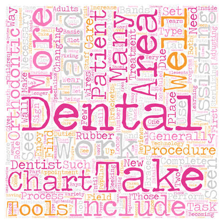 Dental Assistants in Orthodontics 1 text background wordcloud concept