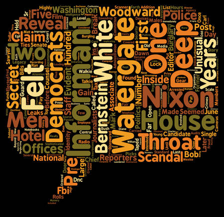 Deep Throat and his Legacy text background wordcloud concept