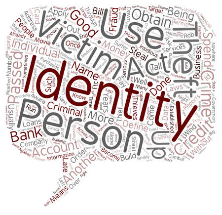 insidious: define identity theft text background wordcloud concept