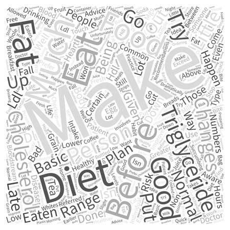 Diet to Lower Triglyceride and Cholesterol Word Cloud Concept Illusztráció