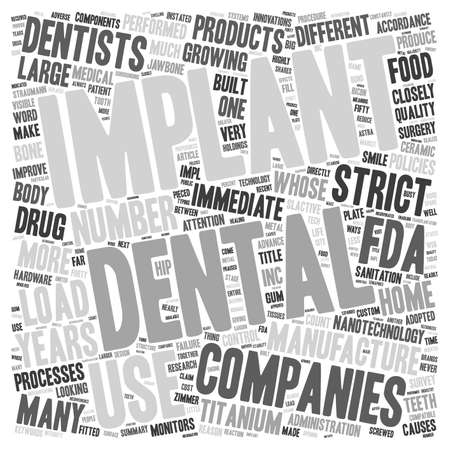 accordance: Dental Implant Companies A Reason To Smile text background wordcloud concept