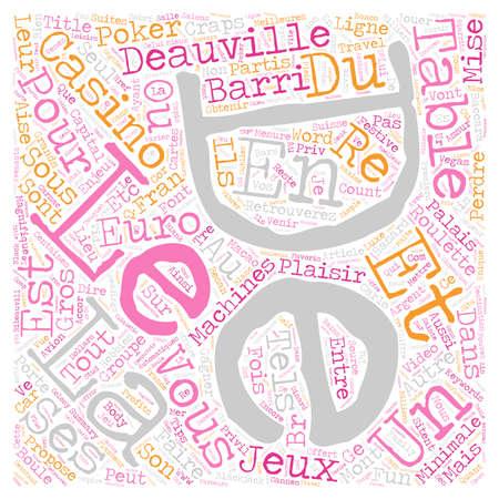 ligne: Deauville La Magnifique text background wordcloud concept