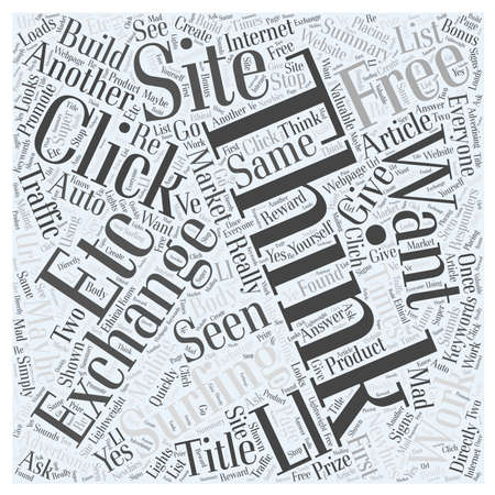 maybe: Do Click Exchanges Really Work Word Cloud Concept