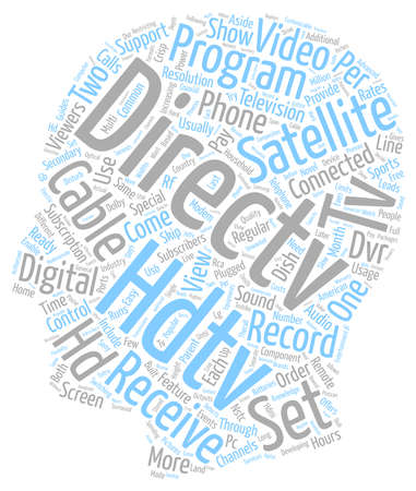 directv satellite hdtv receivers 1 text background wordcloud concept