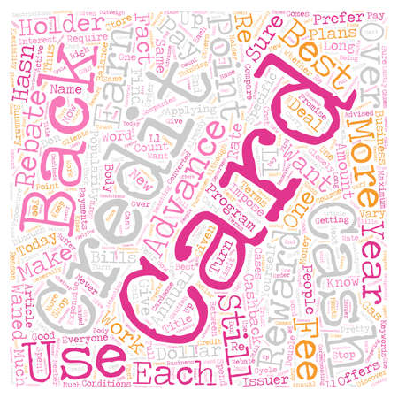 Do You Know How Cash Back Credit Cards Work text background wordcloud concept Illustration