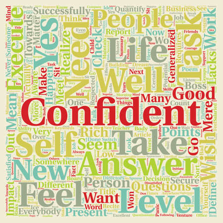 lacks: Did You Check Your Confidence Level text background wordcloud concept Illustration