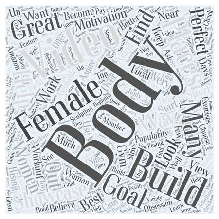 become: Female Body Building Videos Word Cloud Concept