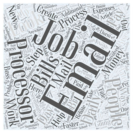 seemingly: Email Processor Jobs Word Cloud Concept Illustration