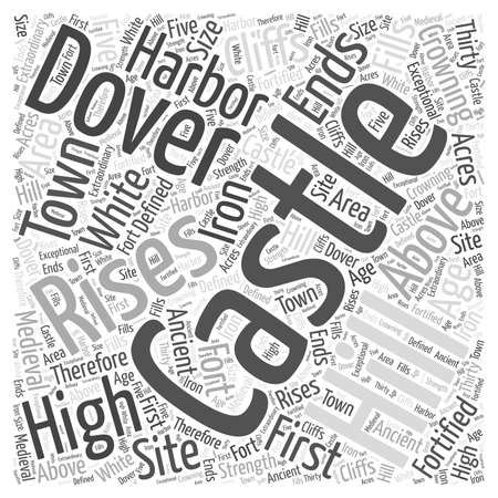 fortified: Dover Castle Word Cloud Concept Illustration