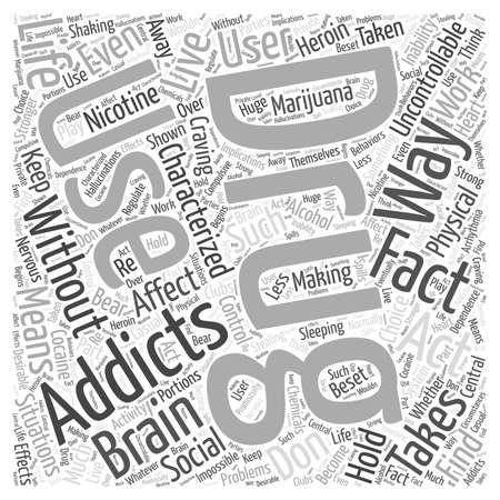 drug addiction facts Word Cloud Concept Ilustração