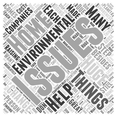 environmental awareness: environmental issues Word Cloud Concept