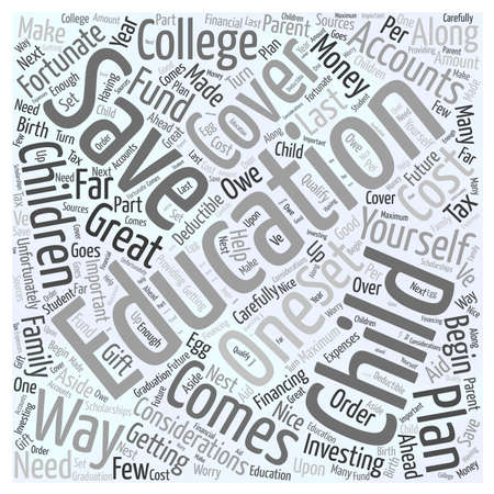 considerations: Educational Savings Accounts Word Cloud Concept