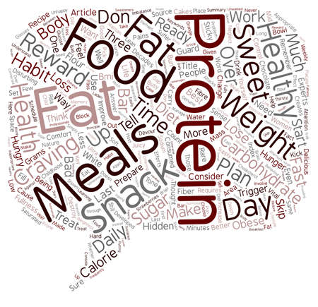 disturbing: Eat Your Way to Weight Loss text background wordcloud concept Illustration