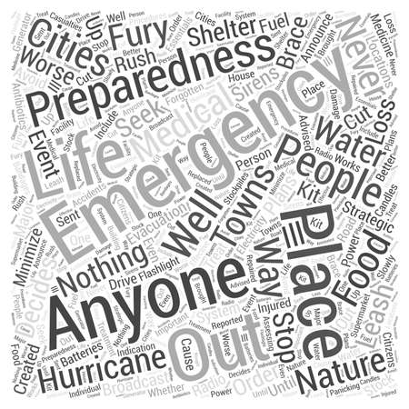 anyone: emergency preparation Word Cloud Concept