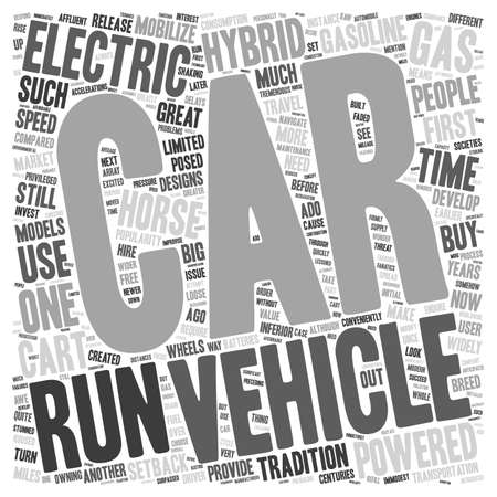 conveniently: electric hybrid vehicles 1 text background wordcloud concept Illustration