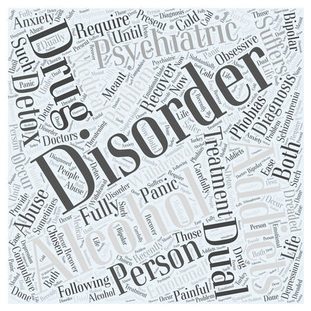 Dual Diagnosis Word Cloud Concept Illusztráció