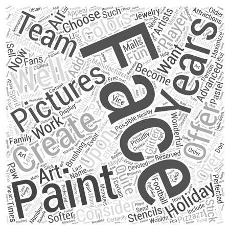 become: face painting pictures Word Cloud Concept Illustration