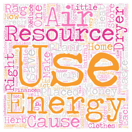 Energy Aware and Waste Wise text background wordcloud concept