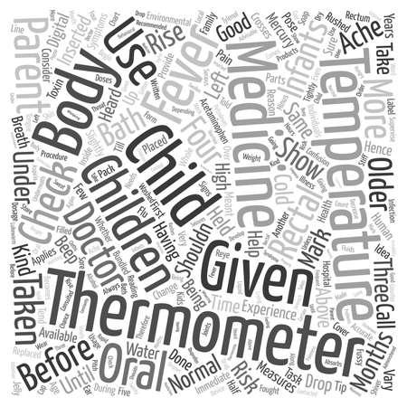 Fever in Children text background wordcloud concept Stock Illustratie