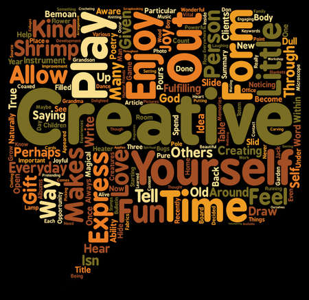 Everyday Creativity text background wordcloud concept