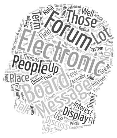 Electronic Message Boards How To Use Them text background wordcloud concept