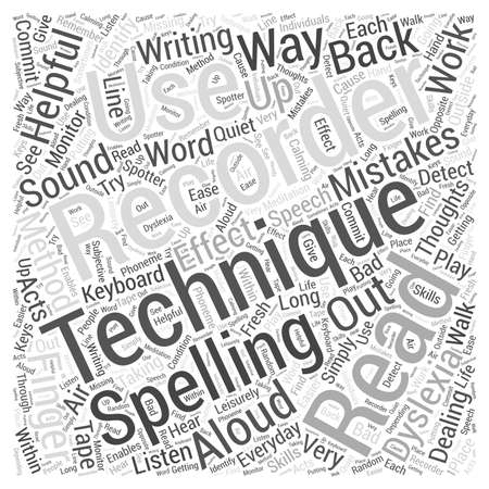 dyslexia: Everyday Techniques In Dealing With Dyslexia Word Cloud Concept