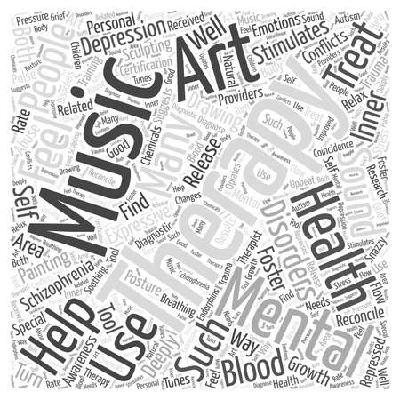 deeply: Expressive Therapies in Mental Health Word Cloud Concept Illustration
