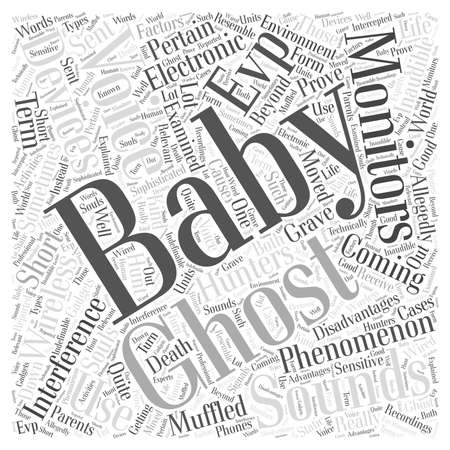 allegedly: EVPs And Baby Monitors Ghosts or Just Interferences Word Cloud Concept