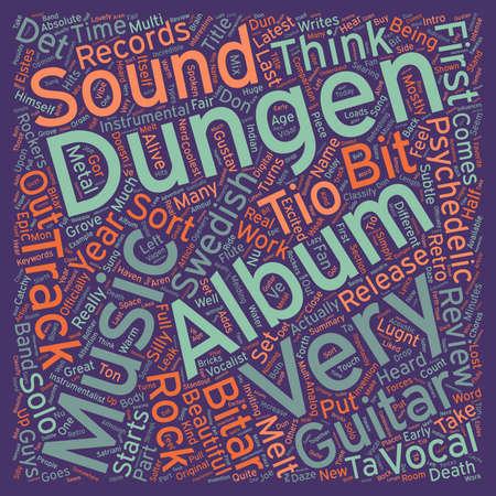 Dungen s Tio Bitar Album Review text background wordcloud concept