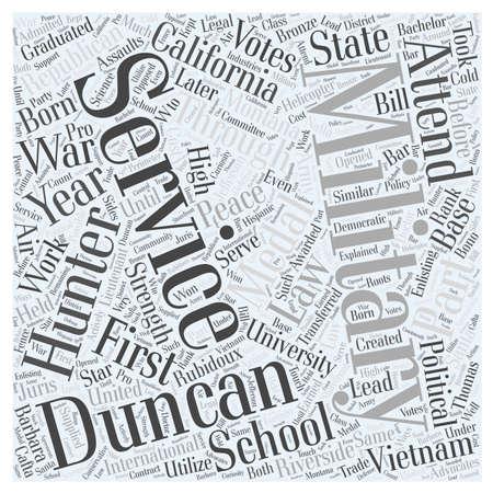 Duncan Hunter Republican Word Cloud Concept Illusztráció