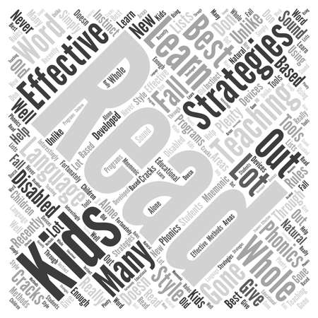 recently: effective teaching strategies Word Cloud Concept Illustration