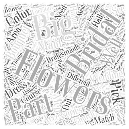 Flowers Are A Big Part Of The Bridal Accessories Word Cloud Concept Vectores