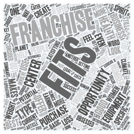 obsessed: Fitness Franchise text background wordcloud concept