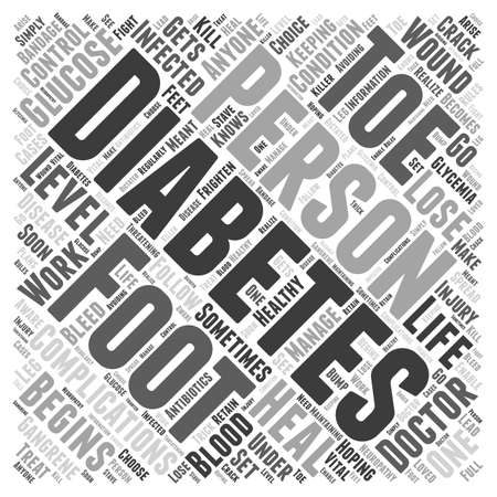 complications: Foot Complications of Diabetes Word Cloud Concept