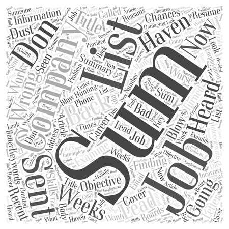 Encontrar trabajo No explote sus posibilidades Concepto de nube de palabras