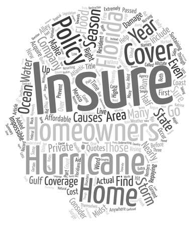 homeowners insurance: Florida Homeowners Insurance Coverage text background wordcloud concept Illustration