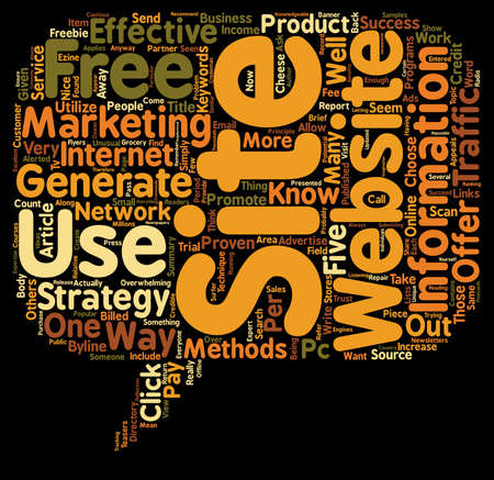 Five Proven Strategies to Increase Traffic to Your Site text background wordcloud concept