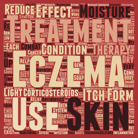uncomfortable: Forms Of Treatment For Eczema Sufferers text background wordcloud concept