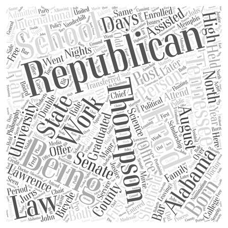 Fred Thompson Republican Word Cloud Concept