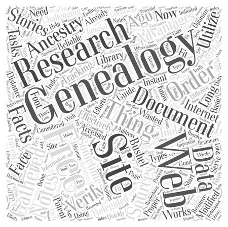 free genealogy web site Word Cloud Concept