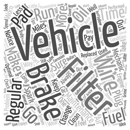 general: General Vehicle Maintenance text background wordcloud concept