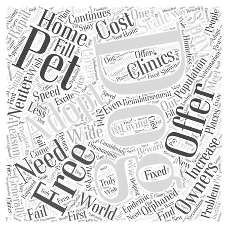 Free Dog Adoptions Word Cloud Concept Illustration