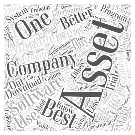 everybody: Free Asset Management Software Word Cloud Concept Illustration