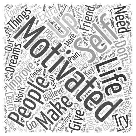 Get Motivated It Pays text background wordcloud concept Ilustração