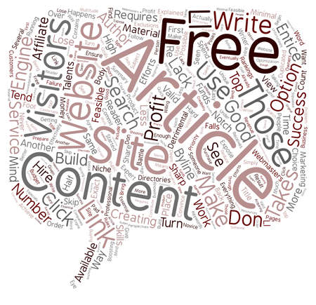 article writing: Free Article Content Explained text background wordcloud concept