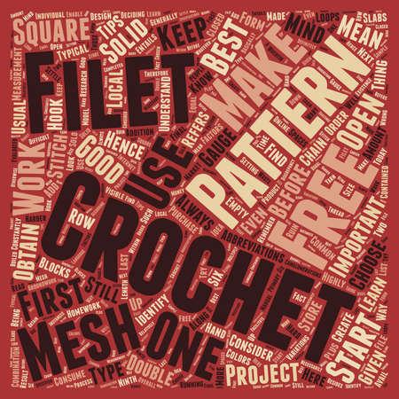 kostenlos Filet Häkelmuster 1 Text Hintergrund Konzept Wordcloud